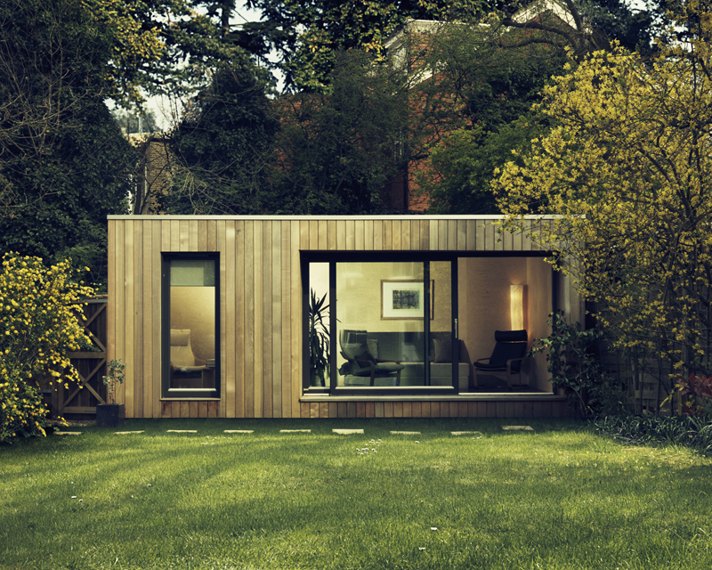 garden home office contemporary garden office studio uk ecospace. Black Bedroom Furniture Sets. Home Design Ideas