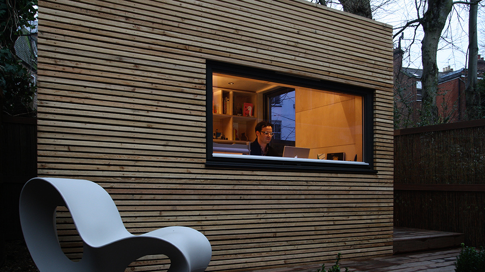 Workpod garden office pod by ecospace studios ecospace for Prefabricated garden rooms